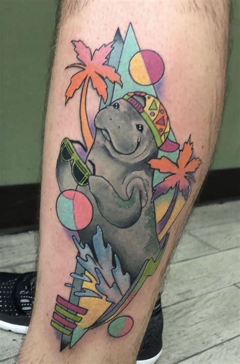 90s tattoos 90 s manatee by hiemstra studio thirteen orlando