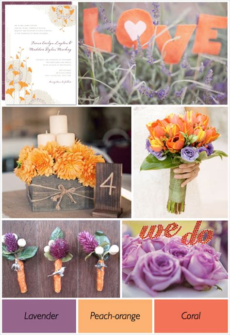 colour wedding themes ideas purple and orange wedding theme weddings by lilly