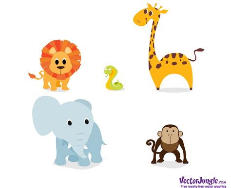 free printable zoo animal clipart 18 free printable safari animals vector images zoo