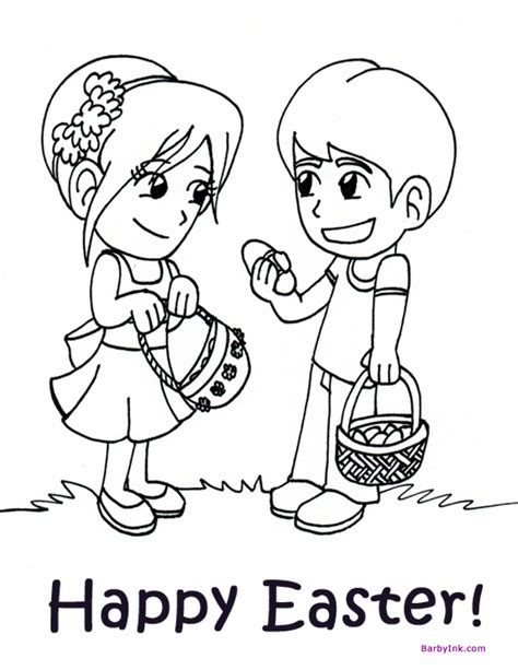 easter egg hunt coloring pages az coloring pages