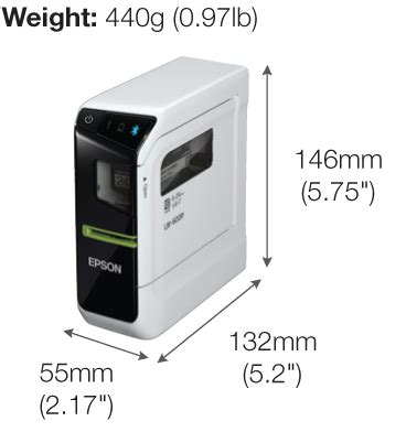 Epson Lw 600p Labelworks Portable Compact Label Printer epson labelworks lw 600p bluetooth pc connectable label