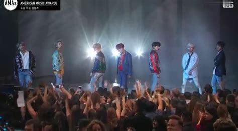 bts on ama watch bts stages incredible u s tv debut performance at