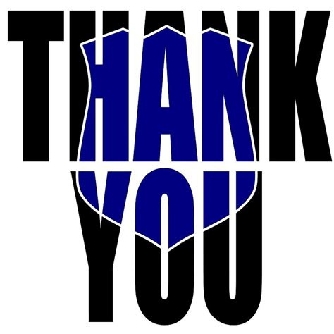 printable thank you card for police officer thank you blue matters police svg cricut silhouette