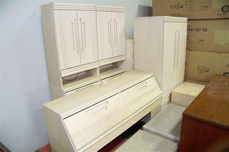 white queen bedroom suite 9pc queen bedroom suite in white wash oak kastner auctions