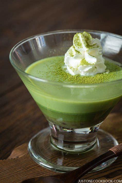 Silky Pudding Green Tea Matcha 320gr green tea pudding 抹茶プリン just one cookbook