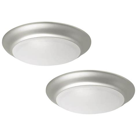 shop project source 13 in w brushed nickel led ceiling flush mount light at lowes brushed nickel flush mount ceiling light my marketing journey