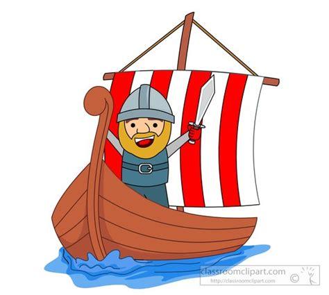 viking boats cartoon vikings clipart cartoon style viking standing on a ship
