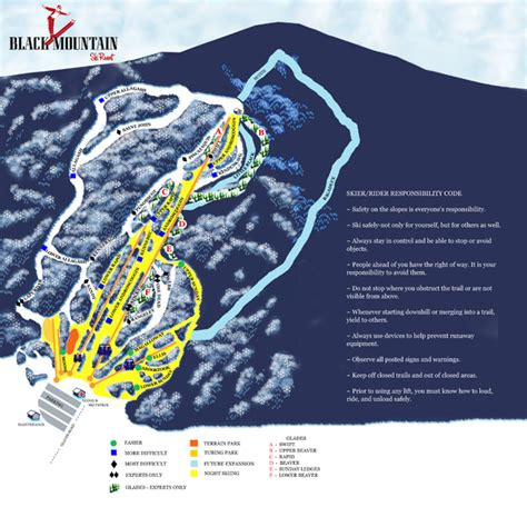 alpine mountain skimap org alpine map black mountain of maine rumford maine