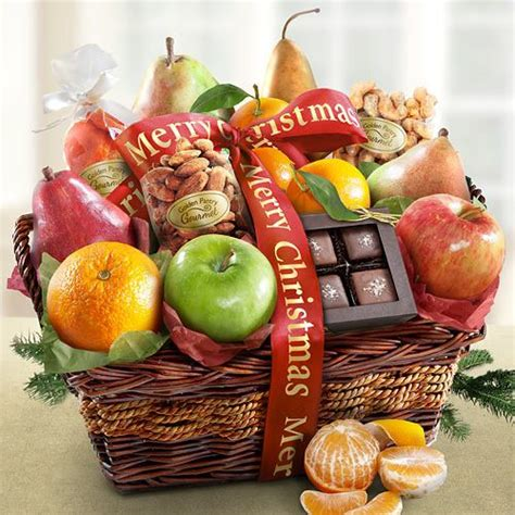 merry christmas fruit basket of orchard delights merry