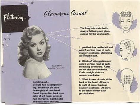 1816 best images about vintage hair howtos on quot glamorous casual quot pin curl setting diagram retro hairstyles vintage curls and