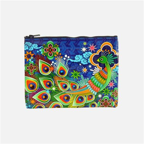 zipper pouch peacock blue q bags superbalist