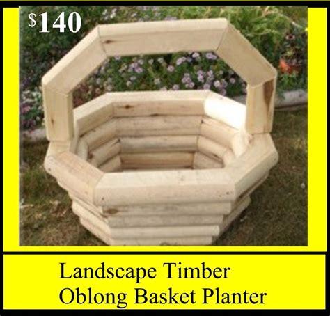 Landscape Timbers Planters Landscape Timber Oblong Basket Planter Pricelist