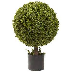 27 quot silk boxwood ball topiary artificial trees silk trees