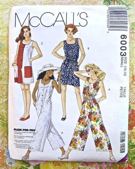 jumpsuit patterns for ladies mccalls 6003 vintage 1990s womens jumpsuit pattern
