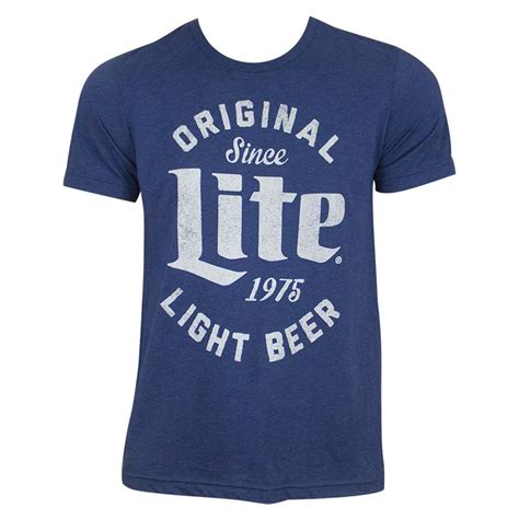 miller light t shirt miller lite s blue original light t shirt