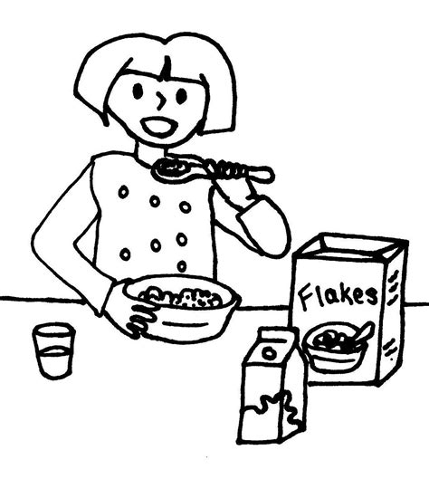 Breakfast Coloring Pages Cartoons Eating Breakfast Coloring Coloring Pages by Breakfast Coloring Pages