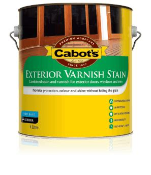 stain varnish water based cabots exterior varnish stain