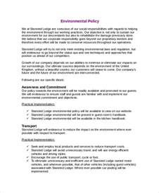 Environmental Statement Template by Environmental Policy Template 7 Free Premium Templates