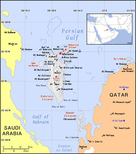printable road map of bahrain political map of bahrain bahrain political map vidiani