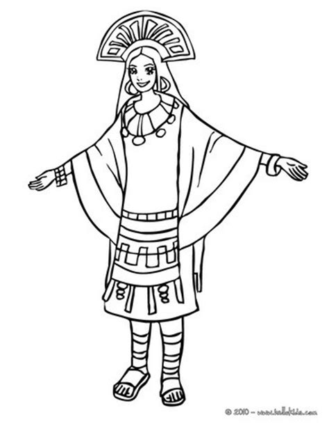 Inca Coloring Pages inca princess coloring pages hellokids