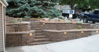 Retaining Wall Stairs Ideas by Retaining Walls Portfolio Of Images Omaha Landscape Design