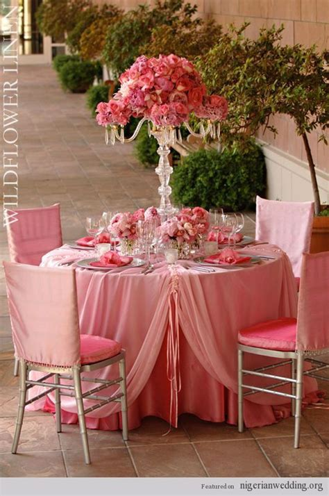 coral and silver wedding reception   18 Fabulous Wedding