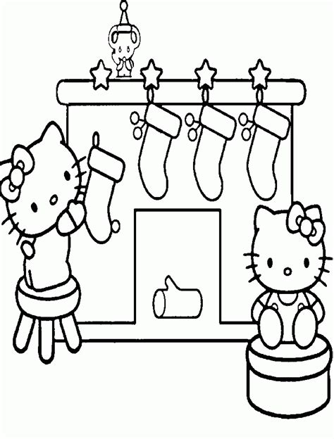 christmas coloring pages kitty hello kitty christmas coloring pages az coloring pages