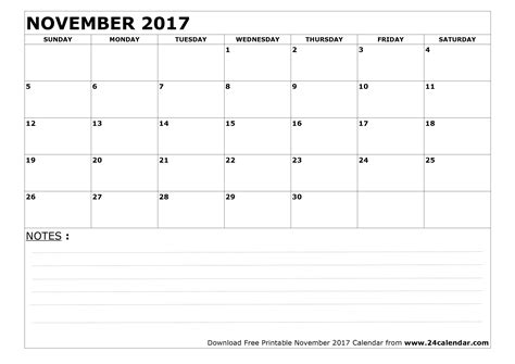 printable weekly calendar november 2017 blank november 2017 calendar in printable format