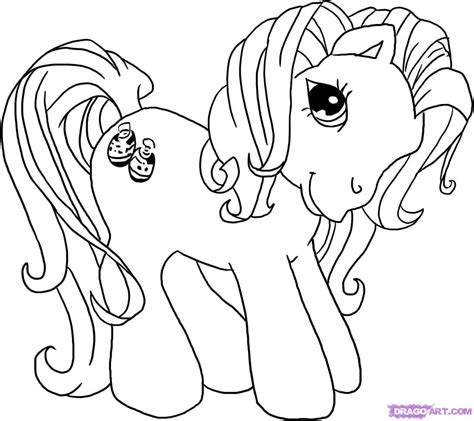 Coloring Page Pony my pony coloring pages free printable pictures