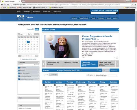 Byui Calendar Byui Academic Calendar Calendar Template 2016