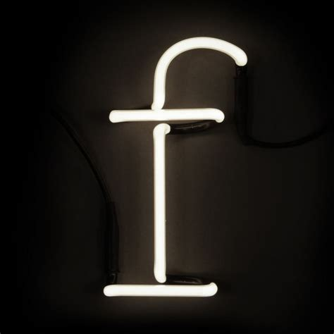 seletti neon wall light letter f free uk delivery 163 50