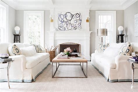 white facing sofas facing each other transitional living room zhush