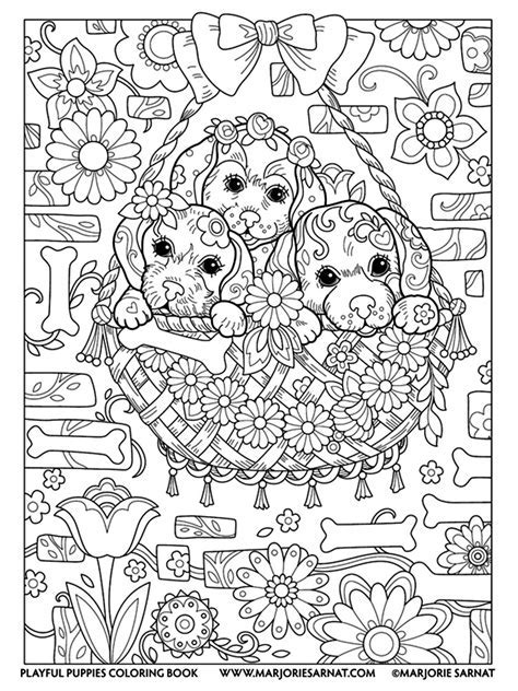 Inner Peace Coloring Book Anti Stress And Art Therapy Marjorie Sarnat Playful Puppies Samat On Amazon Com