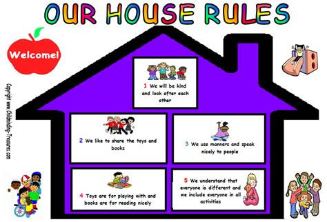 printable house rules chart 7 best images of free printable rules chart kids house