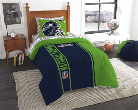 seahawk bedding nfl seattle seahawks twin size bed in a bag buy at team