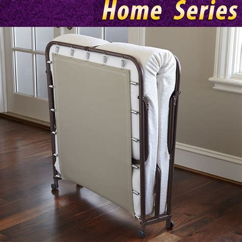 Ranjang Besi Lipat memori busa ranjang lipat lipat penyimpanan tempat tidur tamu dengan tidur kain dasar mudah