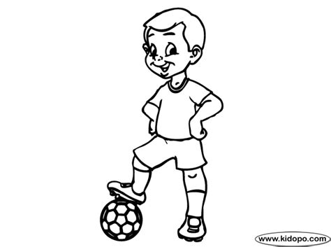 boy soccer player 03 coloring page