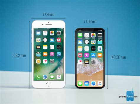 iphone  dimensions  size comparison  iphone  galaxy  lg  google pixel phonearena