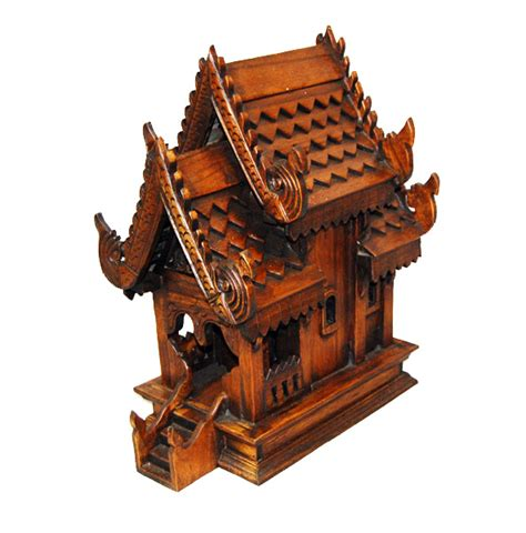 spirit house thai furniture cushions lao thai cultural items