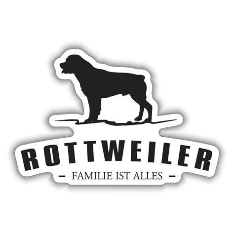 Silhouette Aufkleber Folie by Aufkleber Rottweiler Silhouette