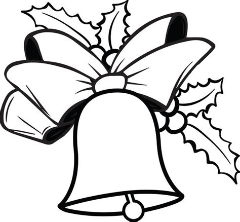 coloring page christmas bell geography blog christmas bell coloring page