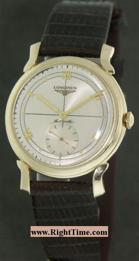 longines 14kt gold automatic 211 10935 pre owned mens