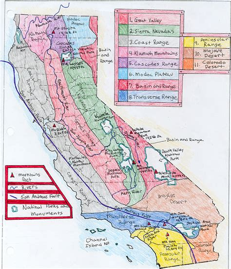 california map project exle of map project
