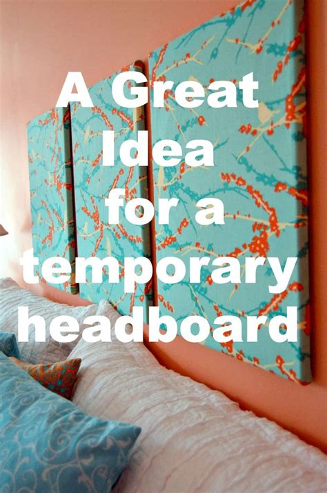 Headboard Alternatives Diy by The 25 Best Canvas Headboard Ideas On