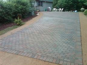 hardscapes brick paver driveway installation after