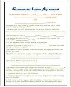 Commercial Rental Agreement Template Free Commercial Lease Agreement Template Save Word Templates