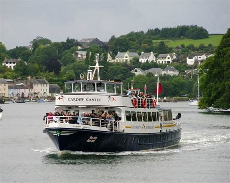 boat trip cardiff castle dart explorer on river dart picture of dartmouth steam