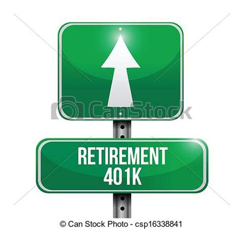 Drawing 401k by Eps Vector Of Retirement 401k Road Sign Illustration