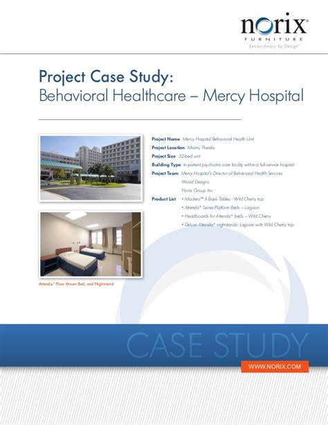 facility layout design case study behavioral healthcare facility design mercy hospital