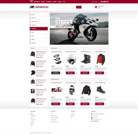 Motorsports Store Zencart Theme Shopping Templates Free In Php